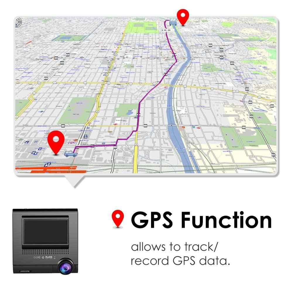 """AZDOME Dash Cam M05 3 """"OLED écran tactile voiture DVRs enregistreur avec GPS véhicule vue arrière caméra caméscope Vision nocturne Dashcam"""