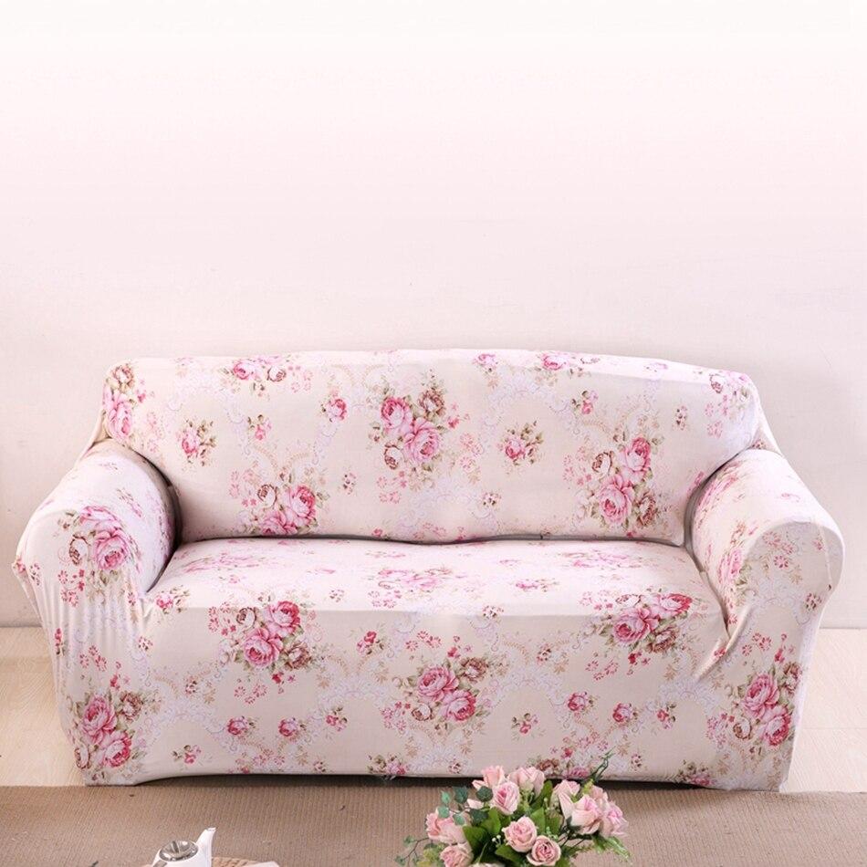 Rosa Blumen Couch Sofa Abdeckungen Für Wohnzimmer Sofa Spandex Ecke