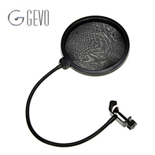 Double Layer Pop Filter MPF-6 Black 6-Inch Clamp On Microphone Mic For Condenser Microphone Studio Recording Spray Guard Karaoke