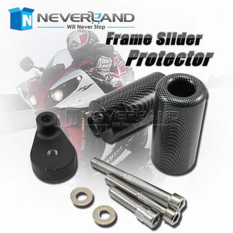 ФОТО Hot sale Motorcycle Carbon Frame Slider Protector for Yamaha YZFR6 YZF R6 08-09 2008 2009 Free shipping C30