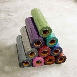 نقل الحرارة الفينيل نقل الحرارة الحديد على بريق الحرارة الصحافة أو حديد على للملابس 50x50 سنتيمتر