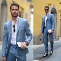 2016 nueva llegada guapo chaqueta de los hombres 2 unidades con traje de chaqueta + pantalones de moda de la venta caliente para el grand ocasión formal trajes de boda
