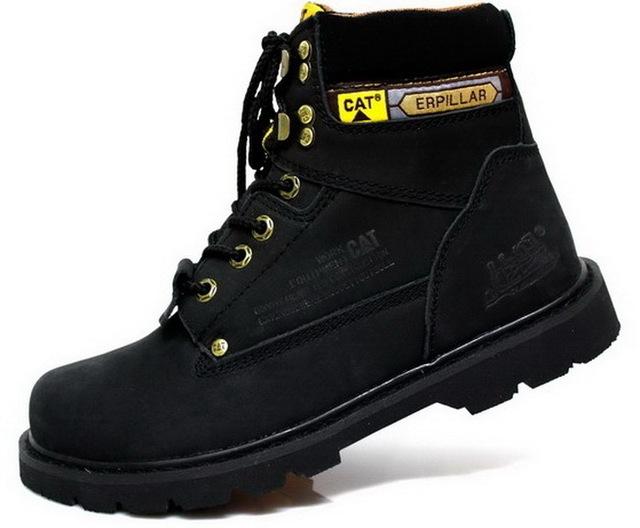 Homens botas de couro do tornozelo botas sapatos da moda inverno botas botte moto tático combate militar de trabalho costura camurça lona