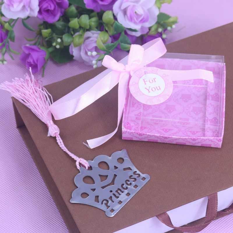 10 шт. Изысканная корона принцессы закладки для детский душ Сувениры украшение для дня рождения и свадьбы, дня рождения, подарки на выпускной