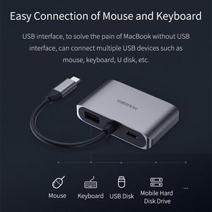Image 2 - Adaptador de HDMI VGA tipo C y USB de habilis a HDMI 4K Thunderbolt 3 para Samsung Galaxy S10/S9/S8 Huawei Mate 20/P30 Pro, USB C a HDMI