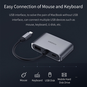 Image 2 - Hagibis USB C HDMI VGA Adapter Type C to HDMI 4K Thunderbolt 3 for Samsung Galaxy S10/S9/S8 Huawei Mate 20/P30 Pro USB C To HDMI