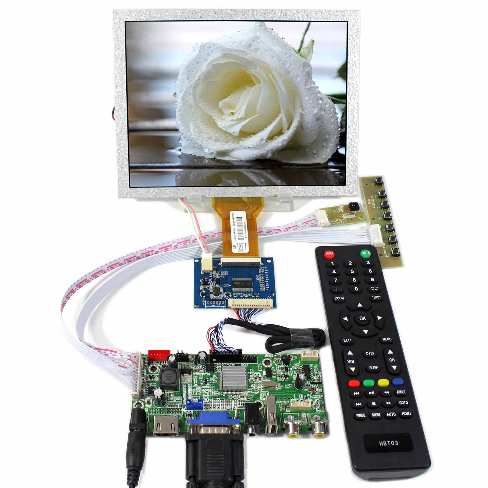 HDMI+VGA+AV+Audio+USB LCD Controller board With 8inch 800x600 EJ080NA-05A LCD Screen hdmi vga av audio usb fpv controller board 8inch 800x600 ej080na 05a lcd panel screen model lcd for raspberry pi