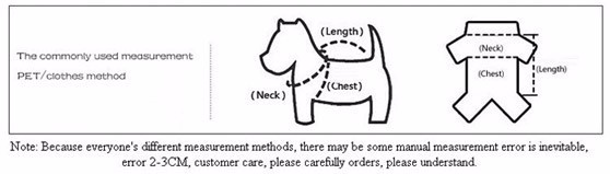 Measure your pet for clothes