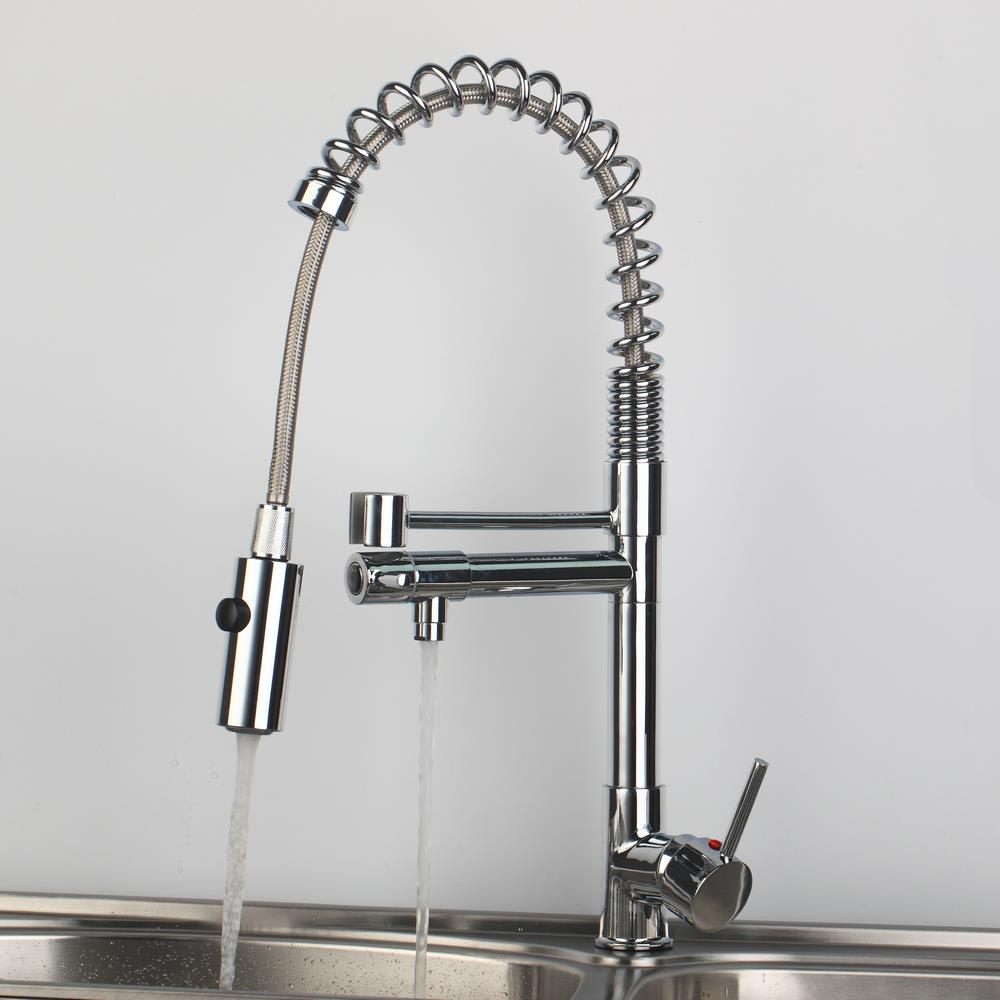 Shivers New Hot & Cold Tap Chrome Polished Kitchen Pull Out Swivel Sprayer Faucet Torneira Cozinha 97168D063/1 Mixe Tap chrome shivers new free brass pull out kitchen sink faucet torneira 8555 swivel spout basin deck mounted sprayer hot
