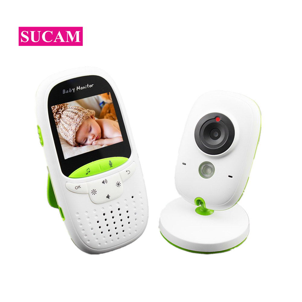 SUCAM Wireless 2inch LCD Audio Video Baby Monitor Music Nanny Radio 12h Portable Night Vision Camera Walkie Talkie Babysitter portable professional 2 4g wireless voice amplifier megaphone booster amplifier speaker wireless microphone fm radio mp3 playing