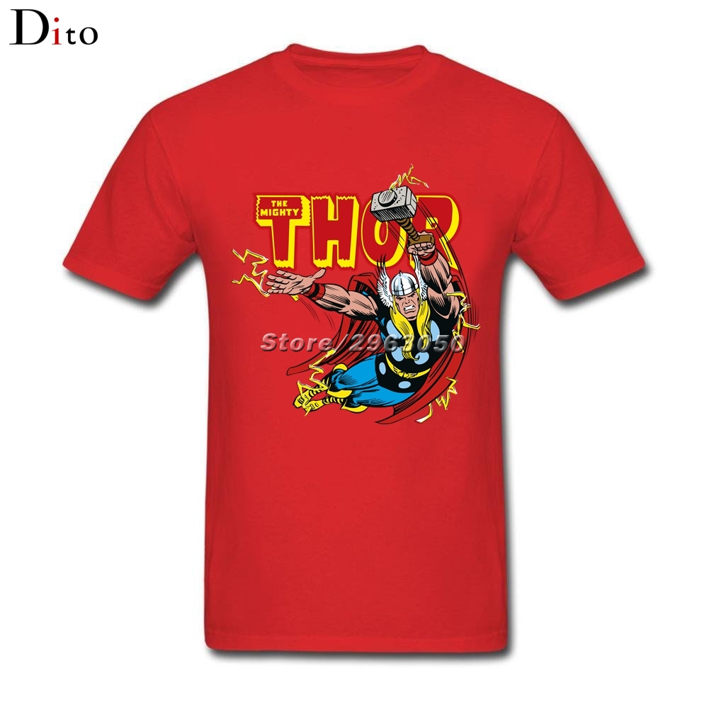 Thunder God Thor T Shirt Men Boy Designer Short Sleeve Cotton Custom 3XL Group Camiseta