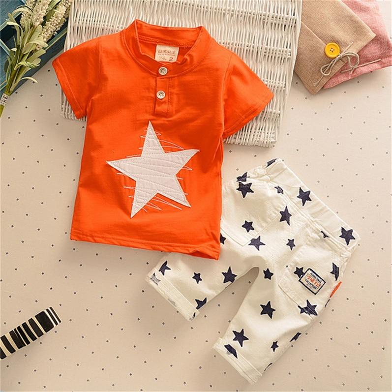 Baby Boy Clothes Summer Newborn Baby Boys Clothes Set Cotton Clothing Suit star pattern Infant Clothes Set