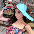 Летнее солнце шлем пляжа шлема ханбок имеет большой открытый анти-УФ зонтик шлема повелительницы шлема большой шляпе соломенной шляпе с девушкой