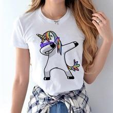 High cotton Unicorn t-shirt Female 2017 Summer Woman Fashion Tops women Tee Shirts Casual Short Sleeve T-shirt Tops Tees femme