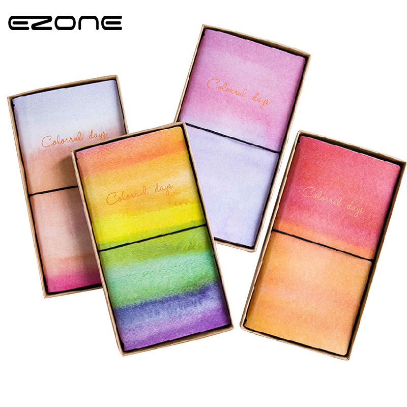 EZONE 1PC Creative Colorful Planner Notebook 2018 Travel Journal Diary Book 20.5*11cm Note Notepad Gift Stationery School Supply ezone 1pc a5 cherry blossoms handbook cute illustration page notepad schedule planner journal diary stationery school supplies