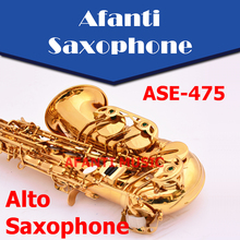 Afanti Music  Eb tone / Brass body / Glod finish Alto Saxophone (ASE-475)