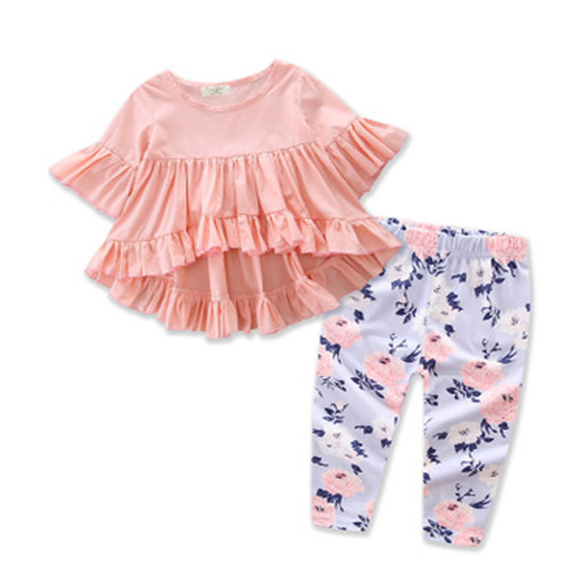 Toddler Kids Baby Girls Floral Long Sleeve Tops Blouse & Pants 2Pcs/Set Outfits Colorful Children Suit Clothes
