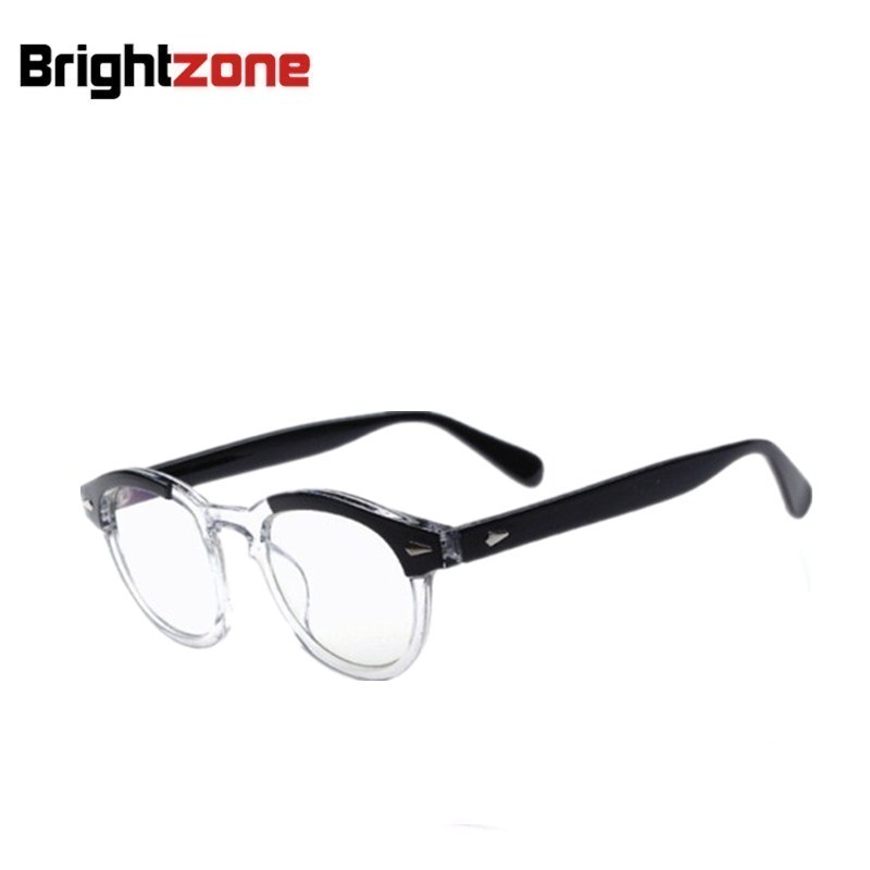 9af7508a19e04 Moda Vidros Ópticos Vintage Frame óculos de Marca Johnny Depp Favorito  Óculos para As Mulheres e