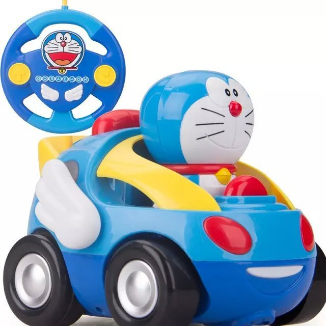 Cute doraemon remote control car toy mini electric cartoon robots cute doraemon remote control car toy mini electric cartoon robots cat hello kitty music children s christmas gifts in rc cars from toys hobbies on voltagebd