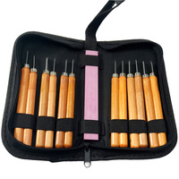 12pcs Set Woodcut Knife Tool Kit With Grinding Stone Multifunction Woodworking Hobby Arts Crafts Carving Knife