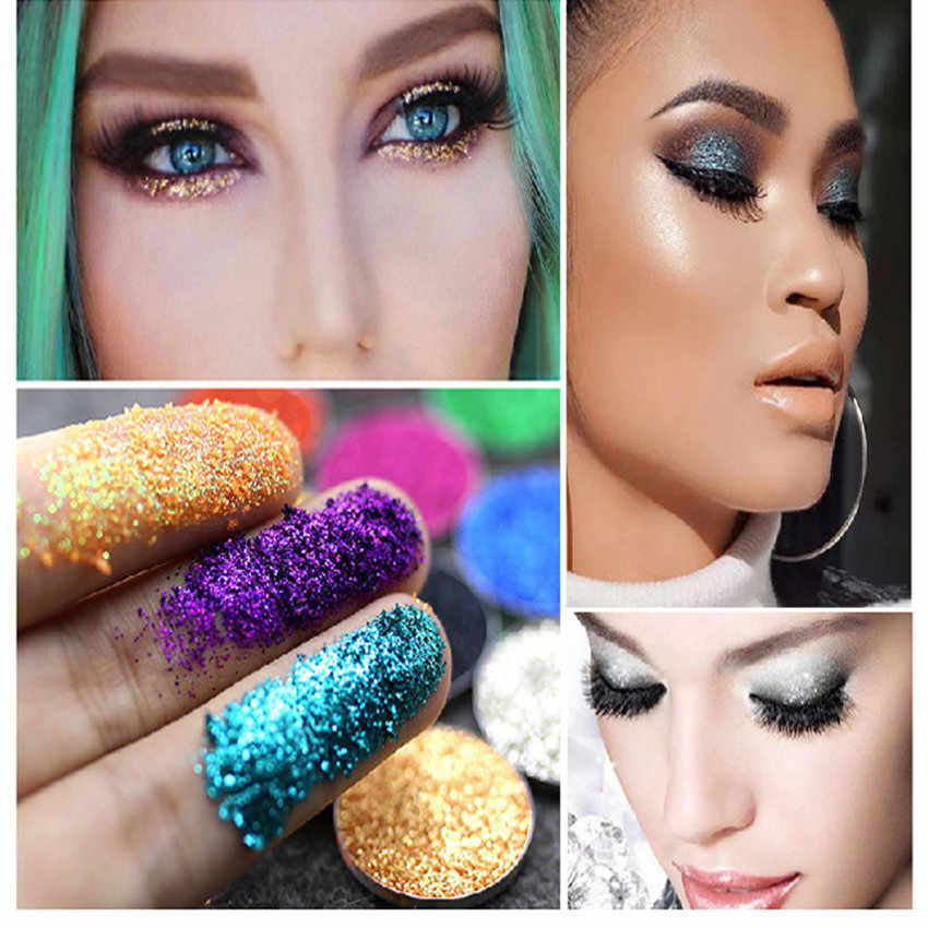 1 Box Pearl White 23 Color Various Body Glitter Makeup Eyes Lip Face Makeup Cosmetics Makeup Women High Pigment Festival Makeup