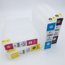 einkshop T7551-T7554 Empty Refillable Ink Cartridge For Epson Workforce WF-8010DW WF-8090DW WF-8510DW With ARC Chip