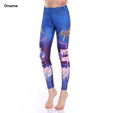 Onseme New Arrival Colorful Elephant Fitness Leggings Sexy Workout Clothing For Women High Elastic Legging Female Trousers