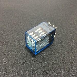 Image 2 - 10 pcs MY4NJ DC 12 V 24 V 110 V 220 V AC Coil Power Relay Algemene Purpose Mini Relais 14 Pins 4NO 4NC LED Indicator 5A HH54P MY4N J