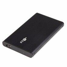 Алюминиевый USB 2,0 HDD корпус жесткого диска внешний 2,5 дюймов IDE HDD корпус с светодиодный свет активности для настольного ноутбука