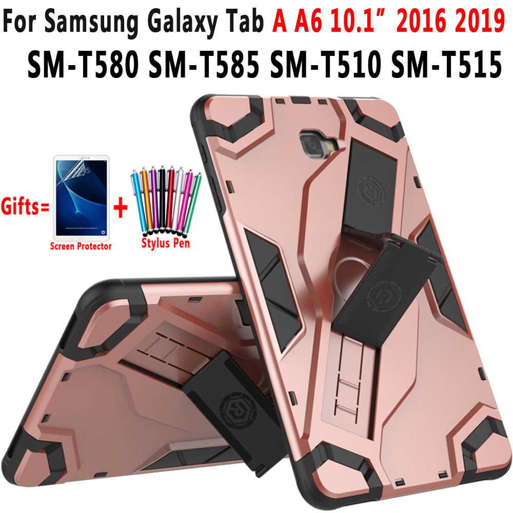 Armor Silicon Cover for Samsung Galaxy Tab A A6 10.1 2016 2019 <font><b>Case</b></font> T580 T585 <font><b>T510</b></font> T515 SM-T580 SM-T585 SM-<font><b>T510</b></font> <font><b>Case</b></font> Funda Coque image