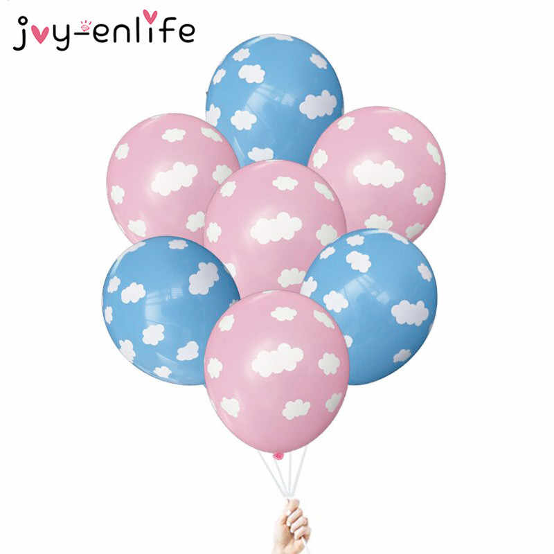 JOY-ENLIFE 10pcs 12inch Cute White Cloud Latex Balloon Wedding Birthday Decoration Baby Shower Bachelorette Party Supplies