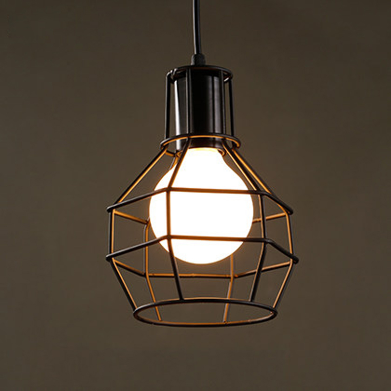 Edison pendant light diy antique retro cage pendant lamp for Diy edison light fixtures