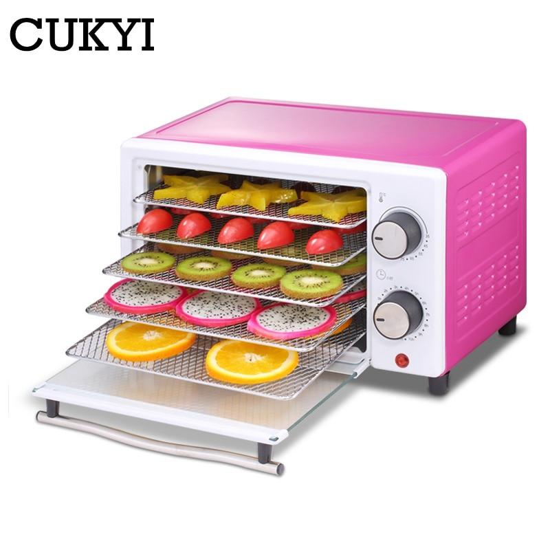CUKYI 5 Trays Food Dehydrator Fruit Vegetable Herb Meat Drying Machine Household Mini Food Dryer Pet Snacks Food Dryer 220V