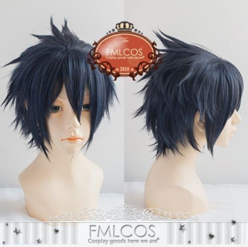 Anime Final Fantasy XV 15 Wig Noctis Lucis Caelum Wig Cosplay Wig + Hair Cap FF15 XV Heat Resistant Synthetic Hair Cosplay Wigs image