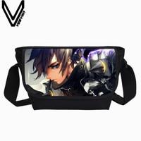 VEEVANV Casual Männer Umhängetasche Anime 3D Druck Handtasche Frauen Umhängetasche Neue Mädchen Schule Bookbag Mode Crossbody Tasche Jungen