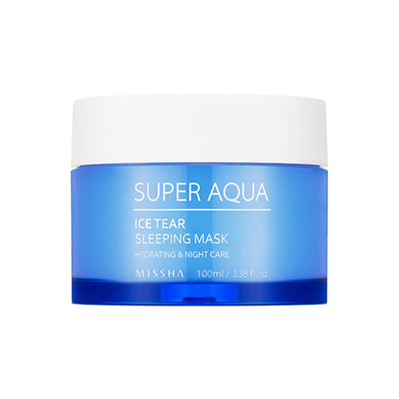Missha Super Aqua Ice Tear Sleeping Mask 100ml Face Care Ageless Moisturizers Whitening Beauty Treatment Korea Cosmetics missha super aqua refreshing cleansing foam объем 200 мл