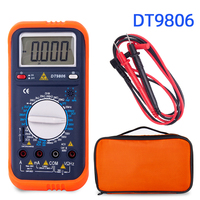 HONEYTEK Multimeter Digital Voltmeter Display Count 19999 ESR Capacitor Tester Electric Meter Multimeter Test Leads Data HOLD