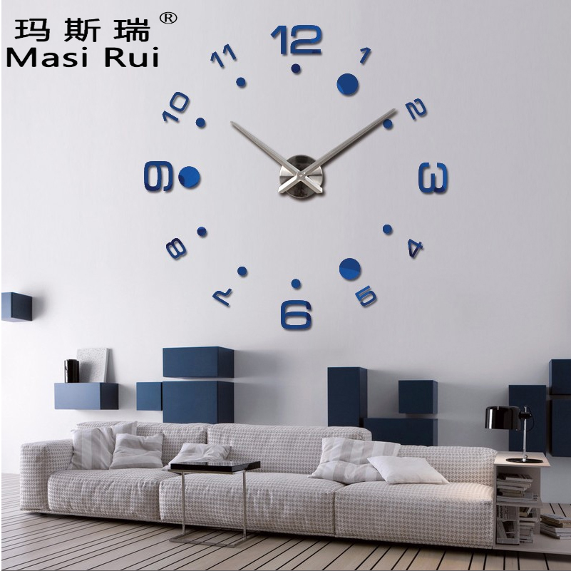 Buy New 2017 Hot Large Diy Wall Clock Home Decor Wall Watch Stickers Mirror