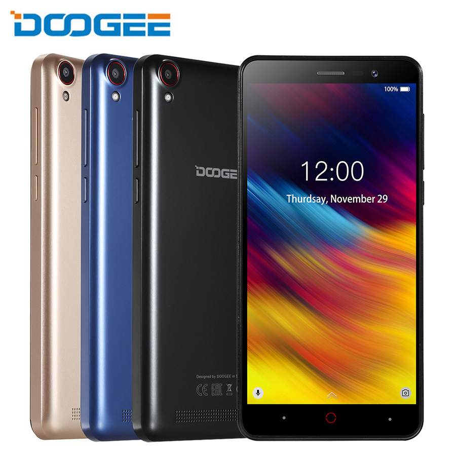 Doogee X100 Mobile Phone MTK6580 Quad Core Android 8.1 1GB RAM 8GB ROM 5.0MP Dual SIM 4000mAh GPS 5.0inch 3G Smartphone