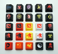 1pcs/lot PBT DIY Keycaps For Mechanical Keyboard DOTA2 EVA WOW Frosted Keycaps For R4/ESC