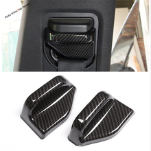 Yimaautotrims Auto Safety Seat Belt Decoration Cover Trim Kit Fit For Mercedes-Benz Vito W447 2014 - 2018 Matte Carbon Fiber ABS