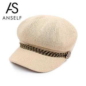 1514ebf18c8 Anself Women Knitted Beret Crochet Beanie Cap French Hat