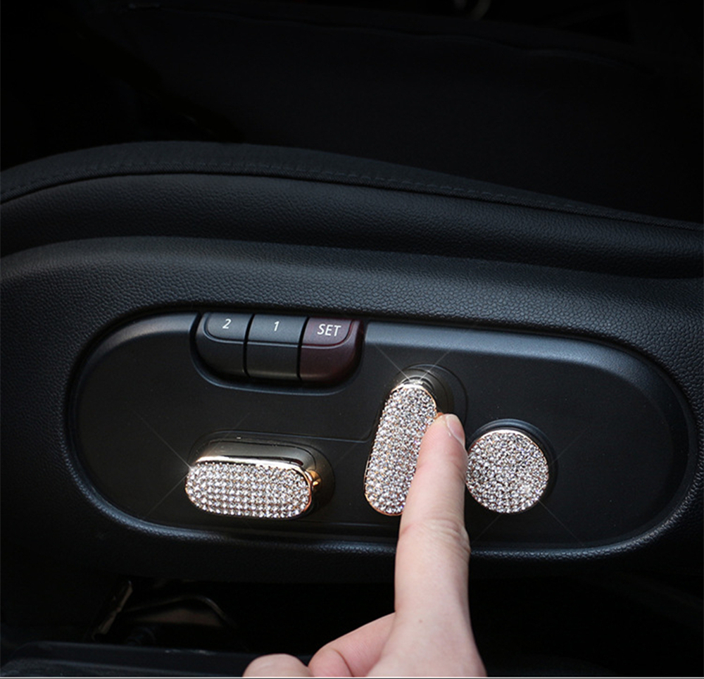 3Pcs for F60 Mini Countryman Car Seat Adjustment Panel Button Decoration Sticker MINI Cooper Coutryman Accessories