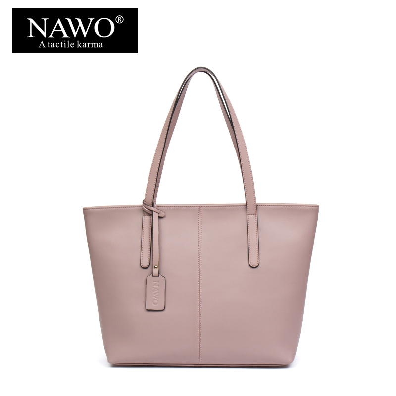 NAWO Split Leather Shoulder Bags Fashion Top-handle Bags Female Large Capacity Handbag Sac A Main Brand Bag For Women 2017 2017 fashion all match retro split leather women bag top grade small shoulder bags multilayer mini chain women messenger bags