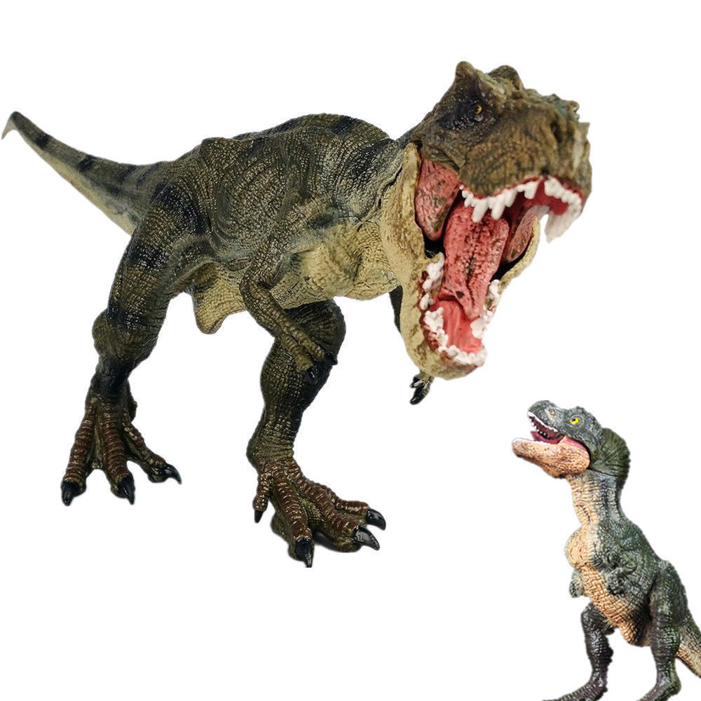 Tyrannosaurus Rex + Baby T-Rex Figure Jurassic Dinosaur Model Ancient Biological Adult Kids Collection Toys Gift Home Decor