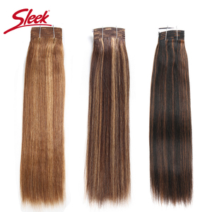 Image 1 - מלוטש רמי שיער ברזילאי יקי ישר שיער טבעי חבילות 1 pc פסנתר P4/30 # P1B/27 # P6 /27 # שיער Weave חבילות הרחבות 113 גרם