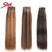 Sleek Remy Saç Brezilyalı Yaki düz insan saçı Demetleri 1 ADET Piyano P4/30 # P1B/27 # P6/ 27 # saç Örgü Demetleri Uzantıları 113g