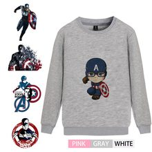 Marvel Comic Captain America Trendy O-NECK Cotton Sweatshirts Teen Leisure Unisex Sweat shirt A193291