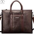 YINTE Casual Men's Handbag Genuine Leather Business Shoulder Bag Men Messenger Laptop Travel/Office/Leisure Bags Totes T22842