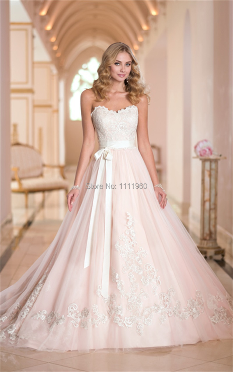 is a blush wedding dress right for you blush wedding dresses blush wedding dress